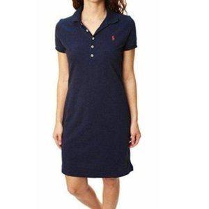 Ralph Lauren Polo Dress Short Sleeves Navy Small